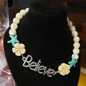"Believe Anklet 10"" in length"